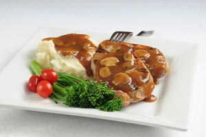 Collection of pork chops with gravy recipes