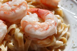 Collection of pasta with shrimp recipes