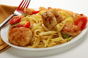 Collection of pasta with scallops recipes