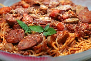 Collection of pasta with sausage recipes