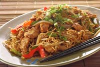 Collection of chicken chow mein recipes