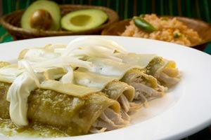 Collection of chicken enchiladas recipes