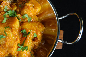 Collection of potato curry recipes