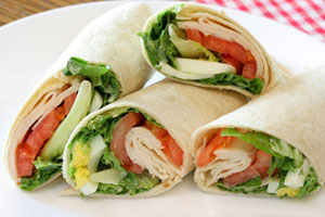 Collection of wrap sandwich recipes