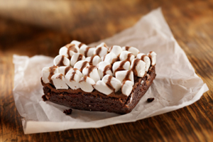 Collection of chocolate marshmallow bars and squares recipes