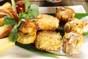 Collection of asian appetizers recipes