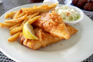 Collection of fish and chips recipes
