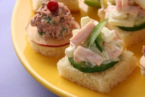 Collection of finger sandwiches recipes