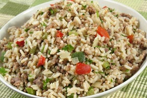 Collection of rice stuffing or dressing recipes