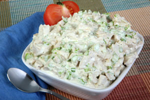 Collection of hot chicken salad recipes