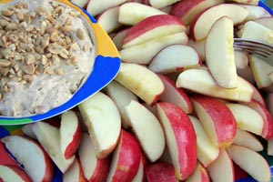 Collection of apple dip recipes