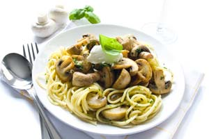 Collection of pasta with mushrooms recipes