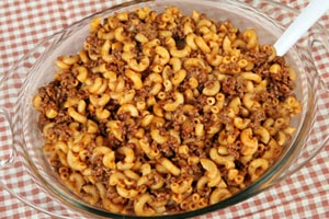 Collection of ground beef and macaroni recipes