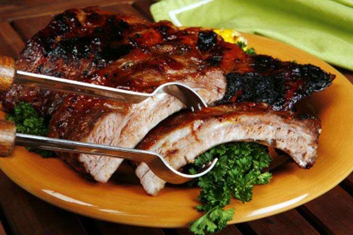 Шашлык из свиных ребрышек рецепт с фото