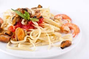 Collection of pasta with seafood recipes