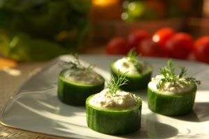Collection of meatless appetizer recipes