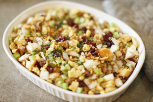 Collection of thanksgiving stuffing or dressing recipes