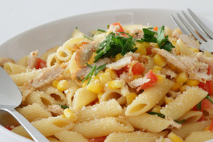 Collection of crock pot pasta with chicken recipes