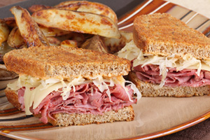 Collection of crock pot reuben sandwich recipes
