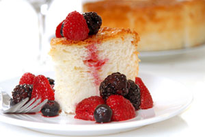 Collection of cakes using angel food cake mix recipes