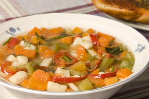 Collection of vegetable soup recipes