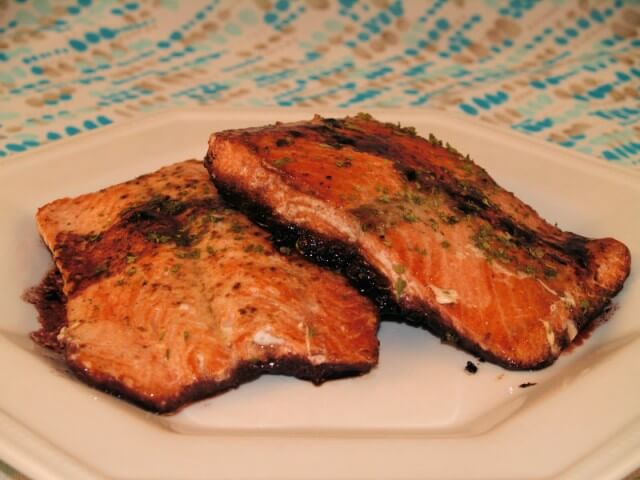 Salmon Steaks In Red Wine Recipe | CDKitchen.com