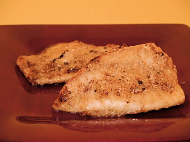 Sesame Crusted Tilapia Fillets Recipe Cdkitchen Com