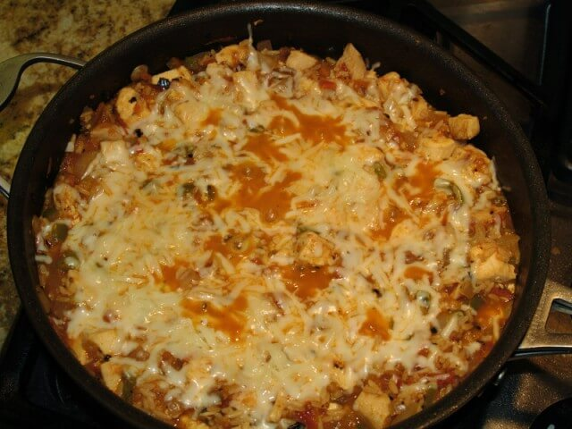 Stove Top Chicken, Salsa, And Rice Skillet Recipe from CDKitchen.com