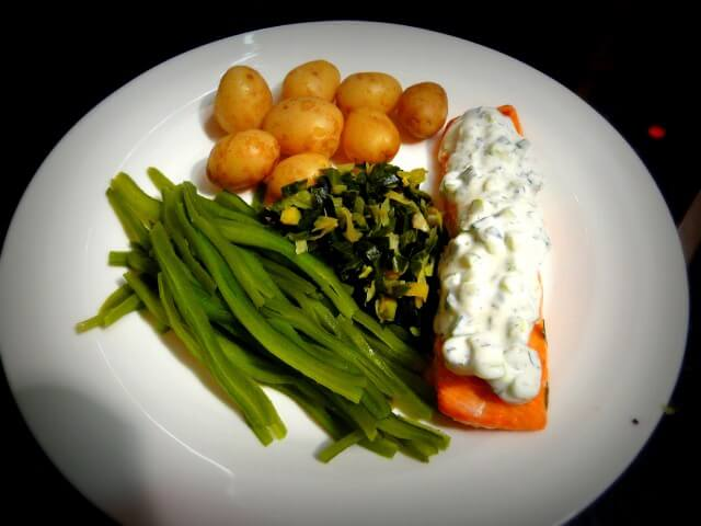 Recipe For Baked Salmon With Cuber Dill Sauce