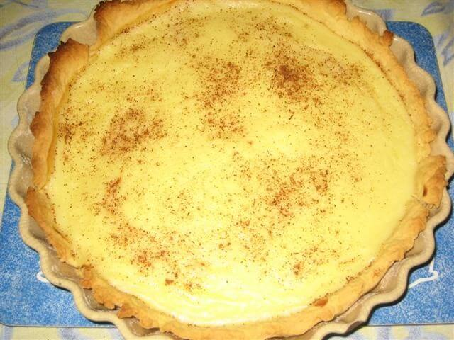 Amish Custard Pie Recipe | CDKitchen.com