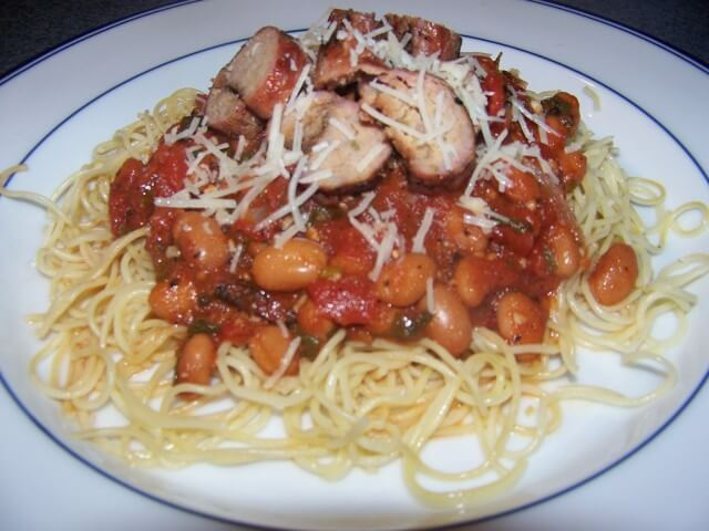 Grilled Turkey Sausage Pasta with Tomatoes and Cannellini ...