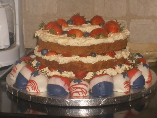 Angel food cake with fruit recipe cdkitchen angel food cake with fruit print recipe forumfinder Images