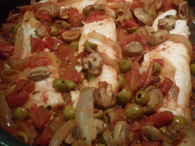 Tilapia With Olive Tomato Sauce Recipe | CDKitchen.com