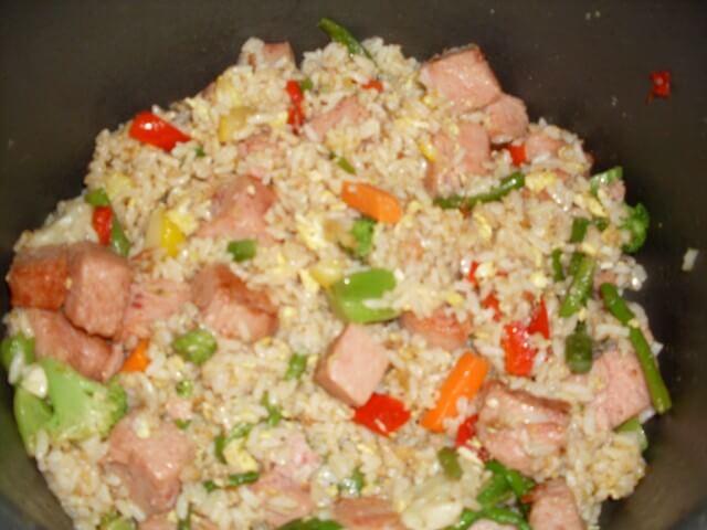 Spam Fried Rice Recipe | CDKitchen.com