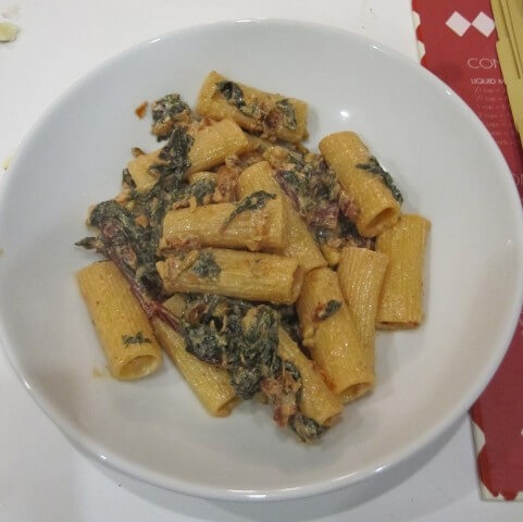 Rigatoni With Goat Cheese, Sun-Dried Tomatoes And Kale ...