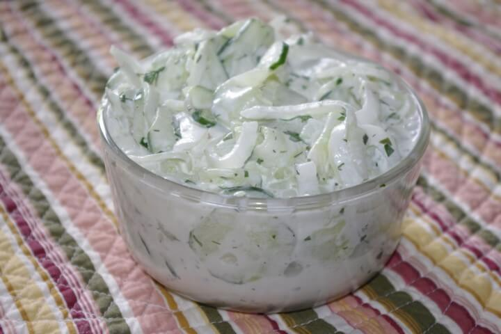 Dilled Sour Cream Cucumber And Onion Salad Recipe ...