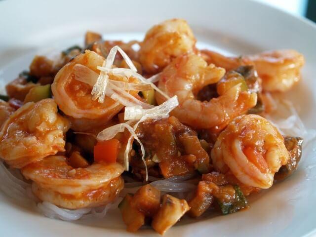 Pan Seared Shrimp With Ratatouille Recipe | CDKitchen.com