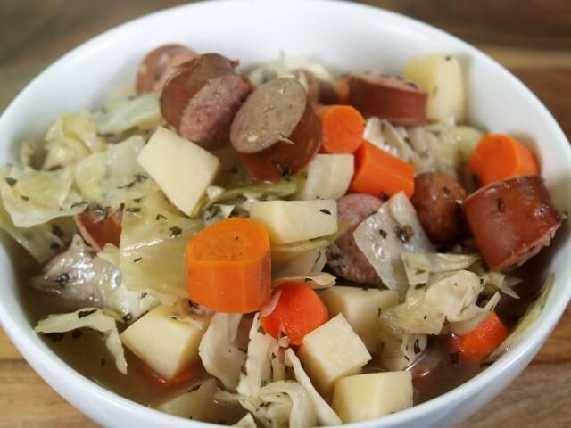 Crock Pot Kielbasa Stew Recipe from CDKitchen.com