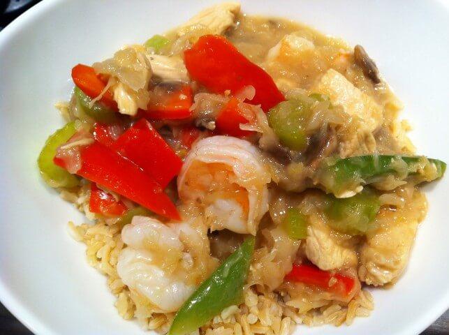 how to make chicken and shrimp stir fry