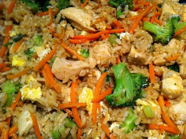 chicken, fresh broccoli, and shredded carrots pack this fried rice ...