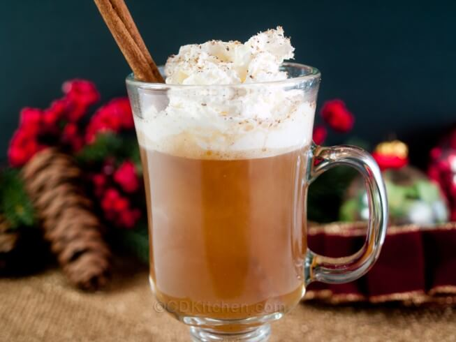pot. This version of hot buttered rum is made with brown sugar, butter ...