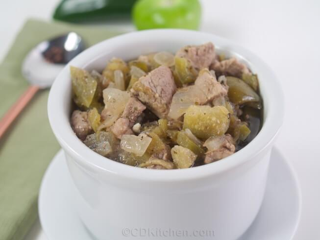 recipe for chili verde with tomatillos