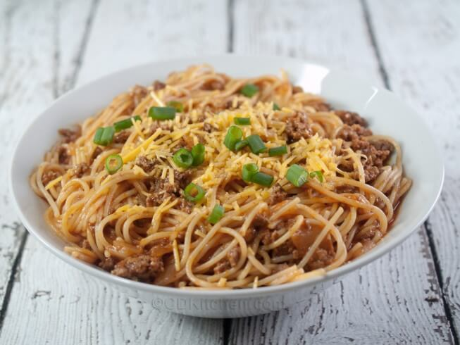 crockpot chili recipe with noodles