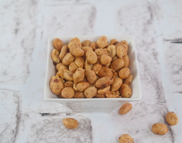 quick and spicy snack made with peanuts, garlic, red pepper flakes ...