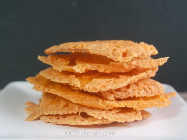 Crispy Cheddar Frico (Fried Cheese Crisps)