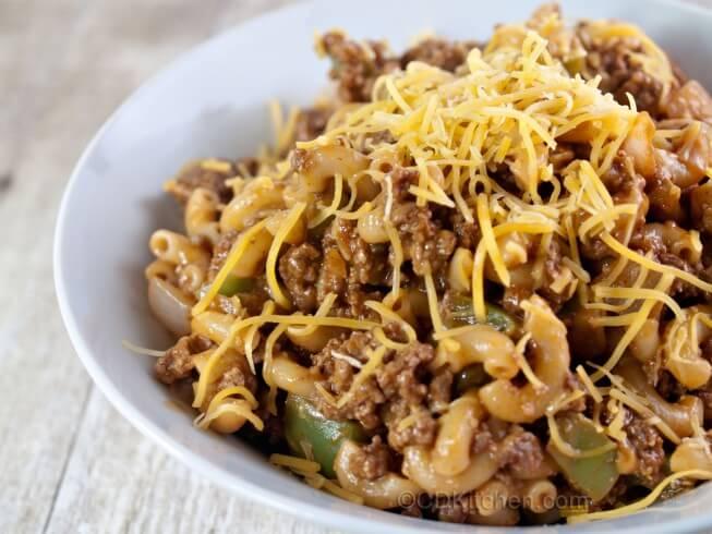 Crock Pot Beefaroni Recipe Cdkitchen Com