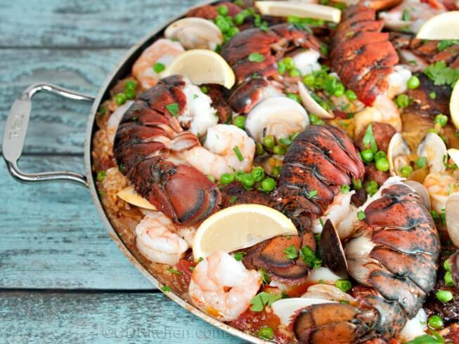 Barcelona-Style Paella Recipe | CDKitchen.com