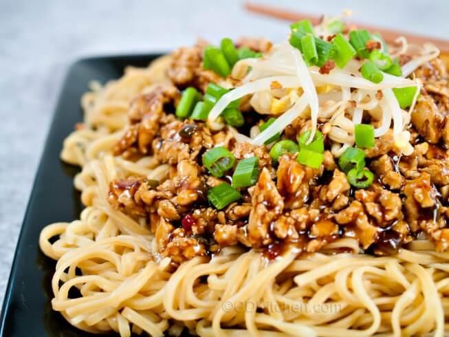 Copycat P.F. Chang's Dan Dan Noodles Recipe | CDKitchen.com