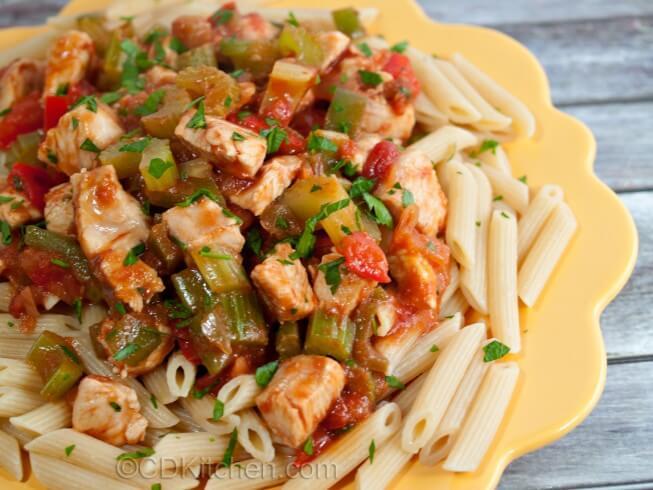Spicy Chicken Pasta Recipe Cdkitchen Com