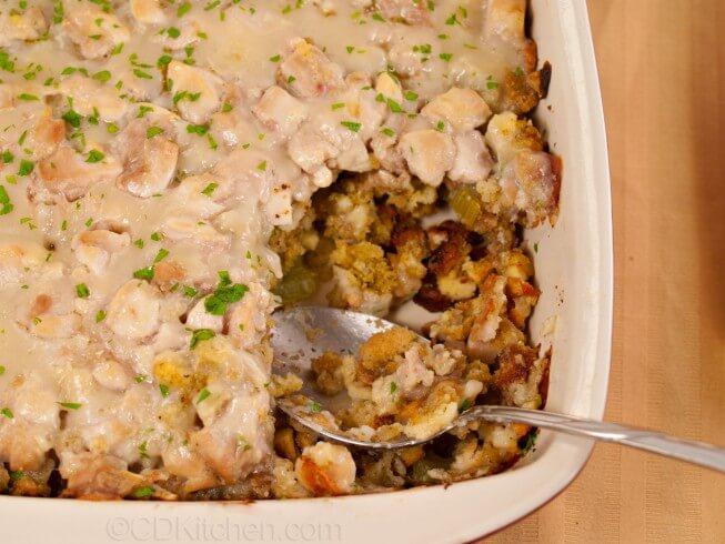 Healthy Chicken And Stuffing Casserole Recipe Cdkitchen Com